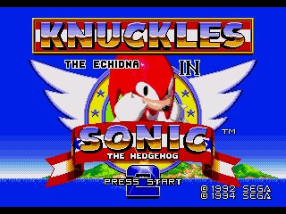 Knuckles the Exidna in Sonic the Hengehog 2